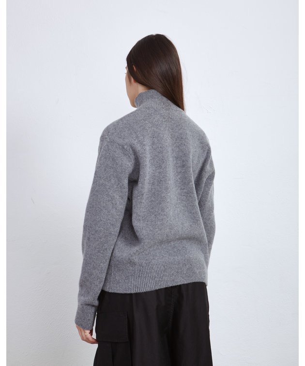 Maison Kitsune Kitsune High Collar Pullover Grey
