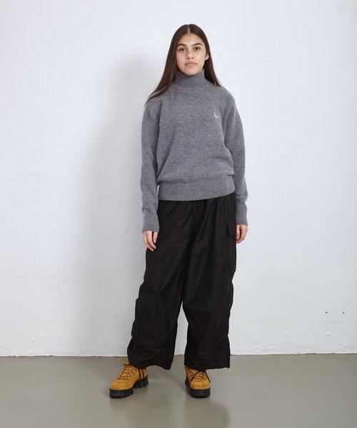 Kitsune High Collar Pullover Grey