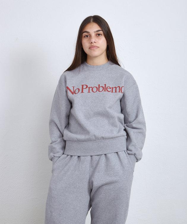 Aries Aries No Problemo Sweatshirt Grey
