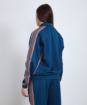 Needles Needles Track Jacket Poly Smooth Teal Green