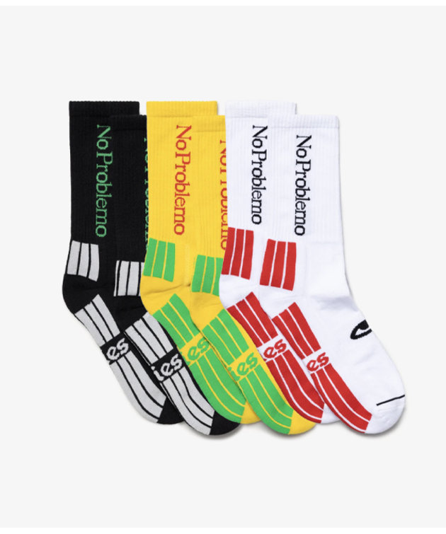 Aries Aries 3 Pack No Problemo Socks Multi