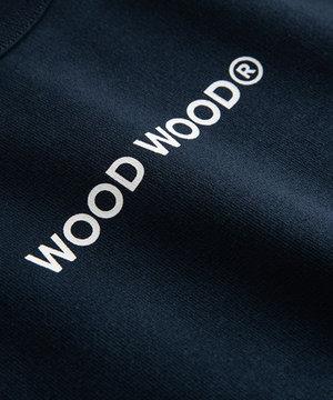 Wood Wood Wood Wood Hope Logo Sweatshirt Navy