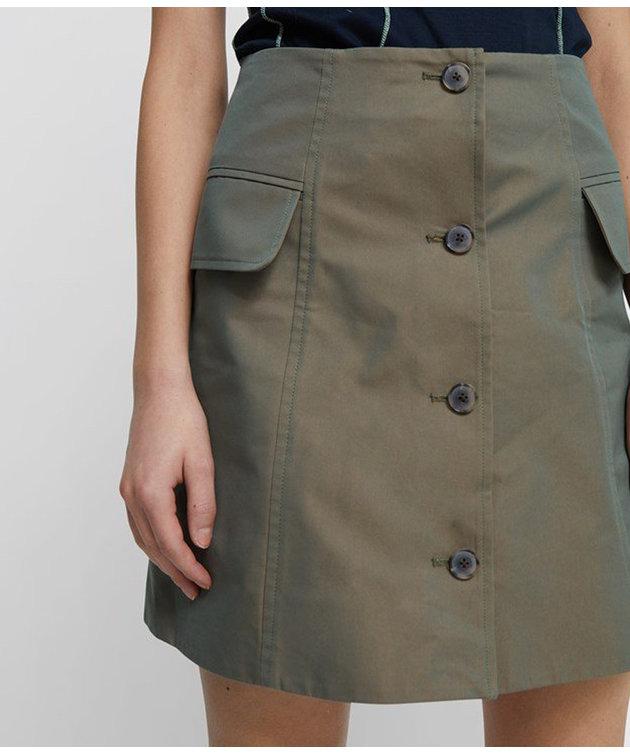 Wood Wood Wood Wood Lotte Iridescent Twill Skirt Olive