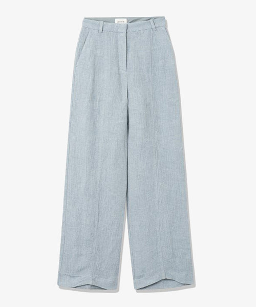 Wood Wood Oaklyn Textured Trousers Blue