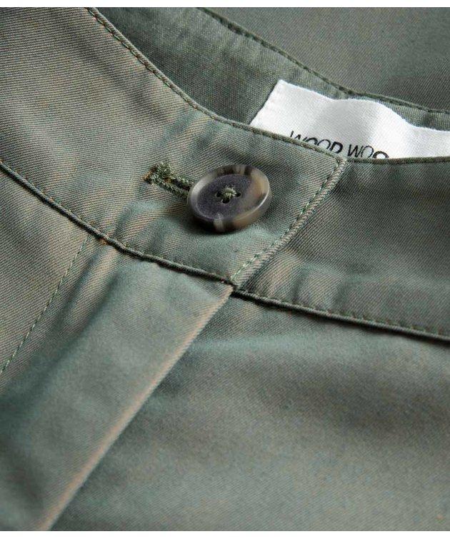 Wood Wood Wood Wood Sirid Iridescent Twill Trousers Olive