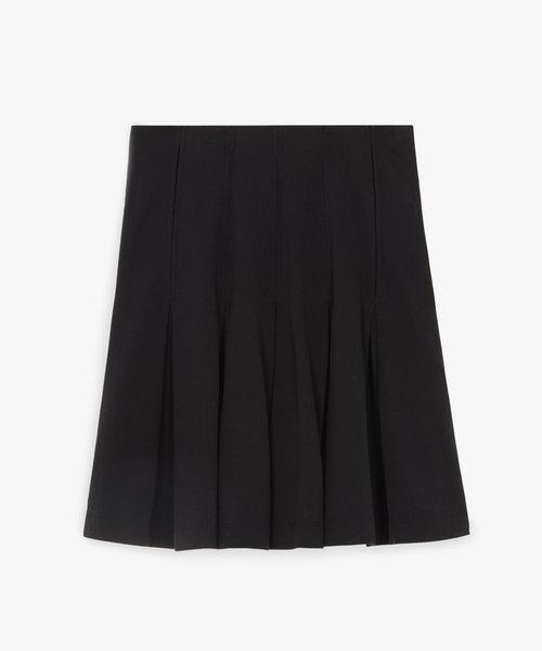 Kitsuné Pique Pleated Skirt Black