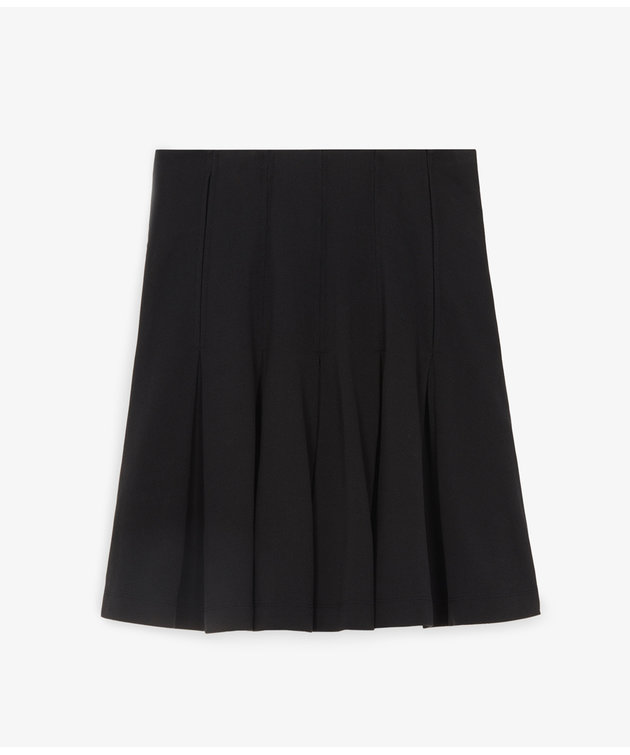 Maison Kitsune Kitsuné Pique Pleated Skirt Black