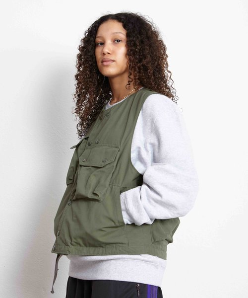 EG Cover Vest Olive Cotton Ripstop
