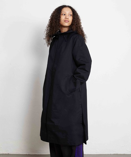 Y-3 W Bonded Racer Hooded Trench Black