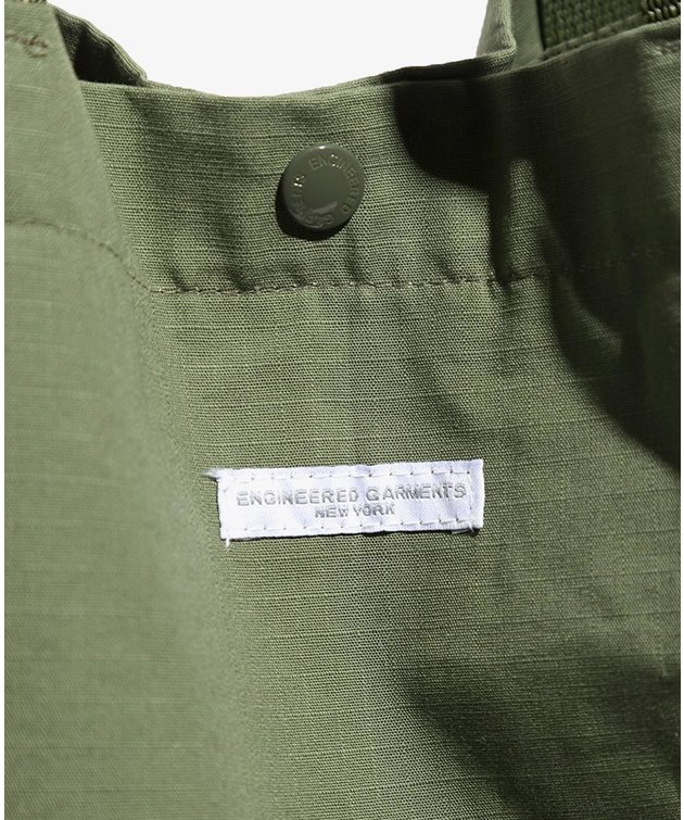 Engineered Garments EG Carry All Tote Olive Cotton Ripstop