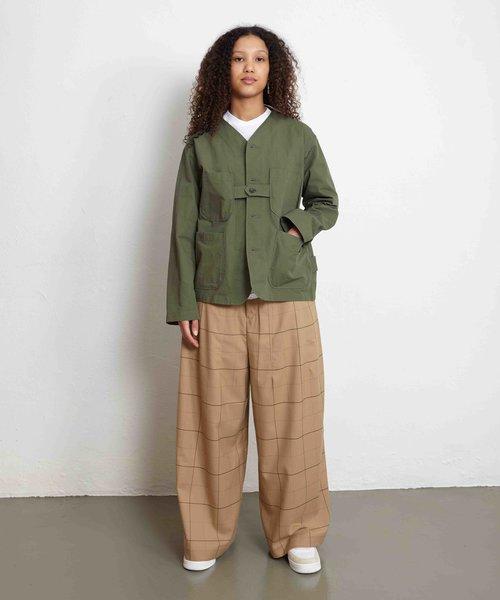 EG Cardigan Jacket Olive Cotton Ripstop