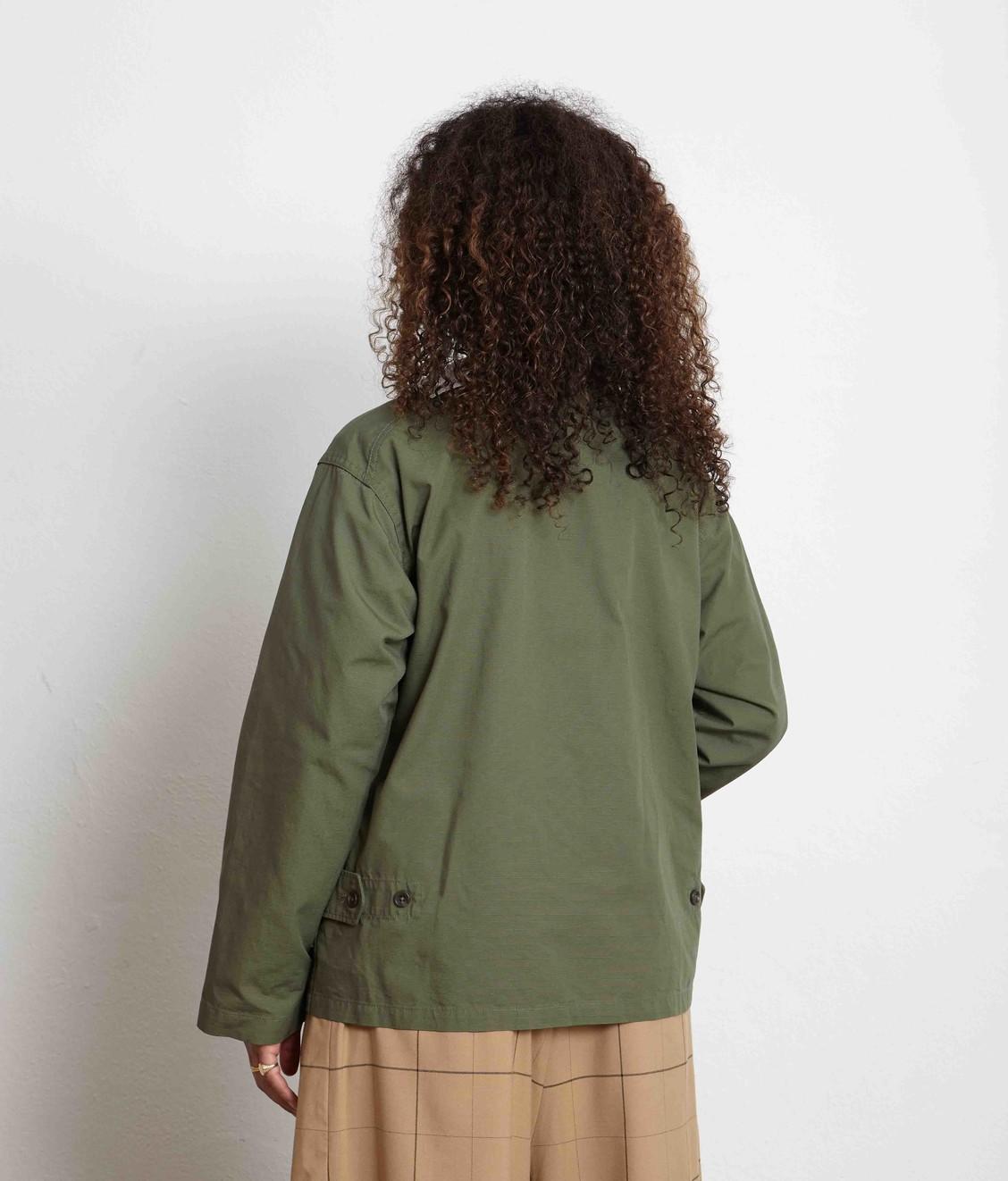Engineered Garments EG Cardigan Jacket Olive Cotton Ripstop