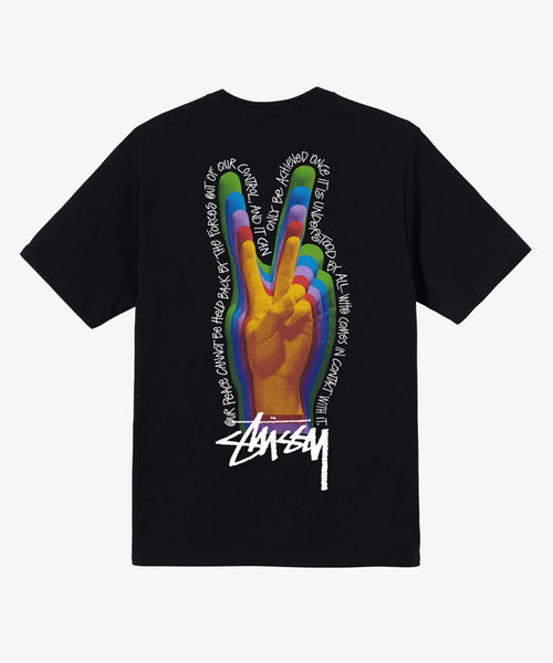 Stussy Peace Sign Tee Black