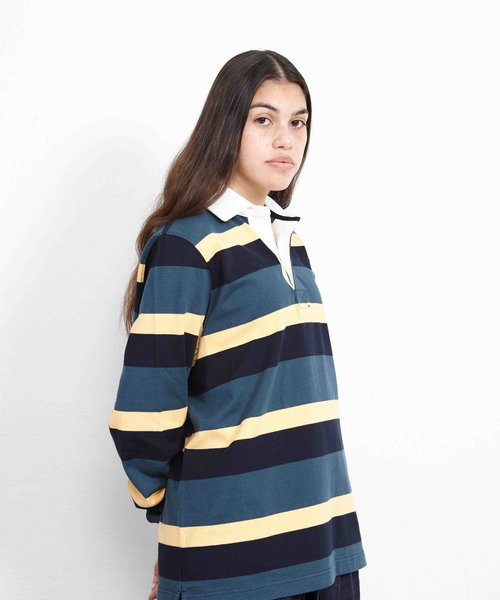 POP Striped Rugby Polo Multicolor