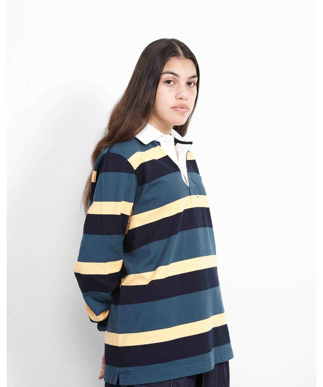 POP Trading Company POP Striped Rugby Polo Multicolor