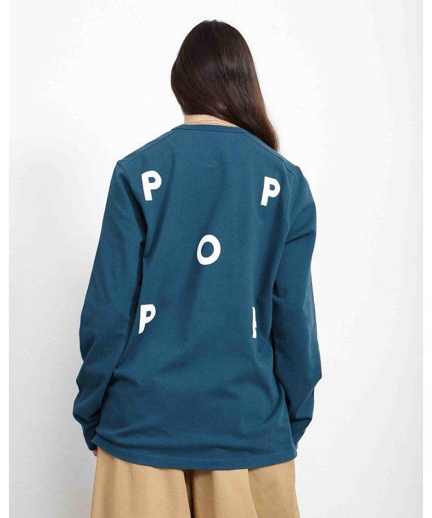 POP Trading Company POP Logo Longsleeve T-Shirt Dark Teal