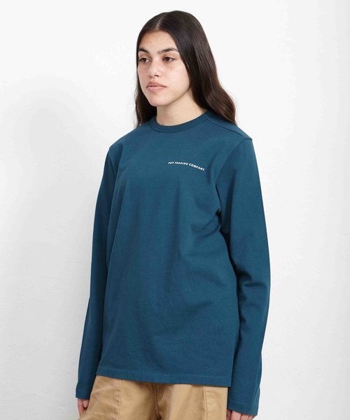 POP Logo Longsleeve T-Shirt Dark Teal