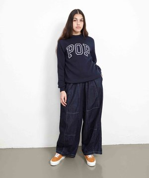 POP Trading Company POP Arch Knitted Crewneck Navy