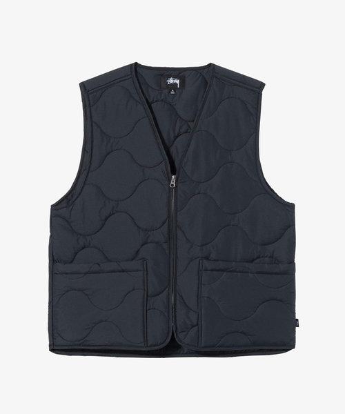 Stussy Quilted Liner Vest Black