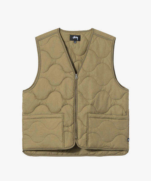 Stussy Quilted Liner Vest Coyote
