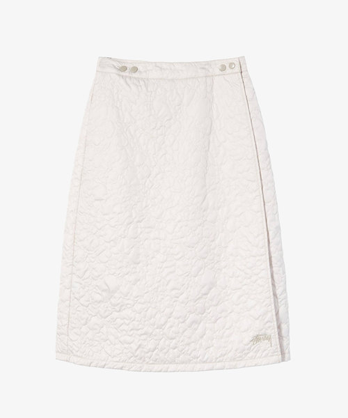 Stussy Ritters Quilted Skirt Stone