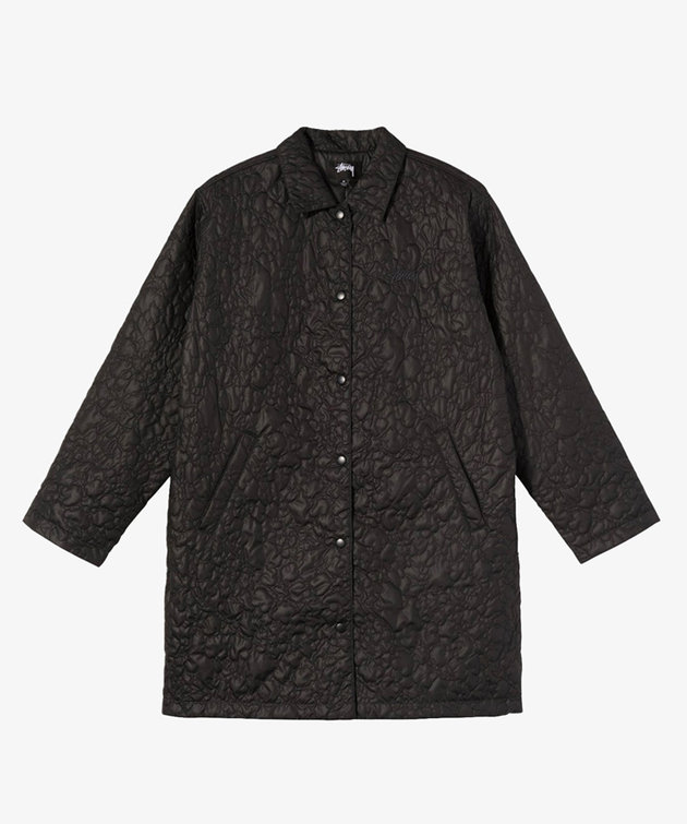 Stussy Stussy Ritters Long Quilted Jacket Black