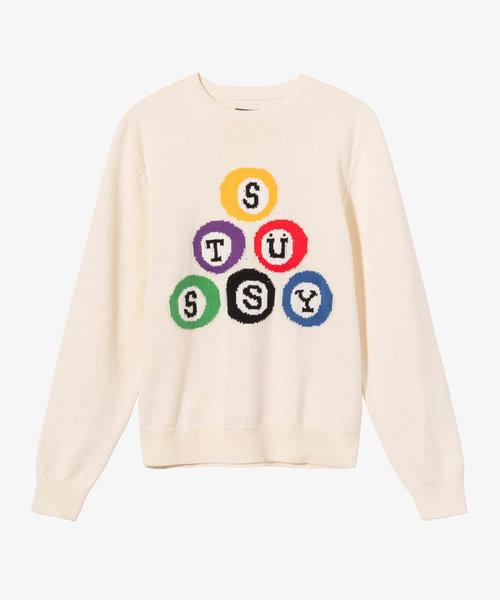 Stussy Billard Sweater Natural