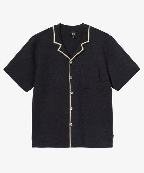 Stussy Stripe Edge Knit Shirt Navy