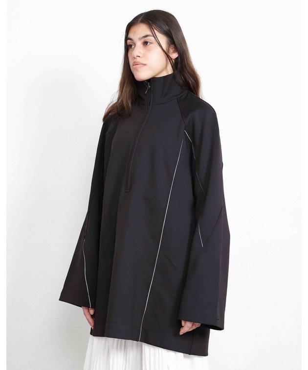 Y-3 Y-3 W Cover Knit Shell Half-Zip Sweat Black