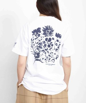 Engineered Garments EG Pocket T-Shirt White w/ Floral Print
