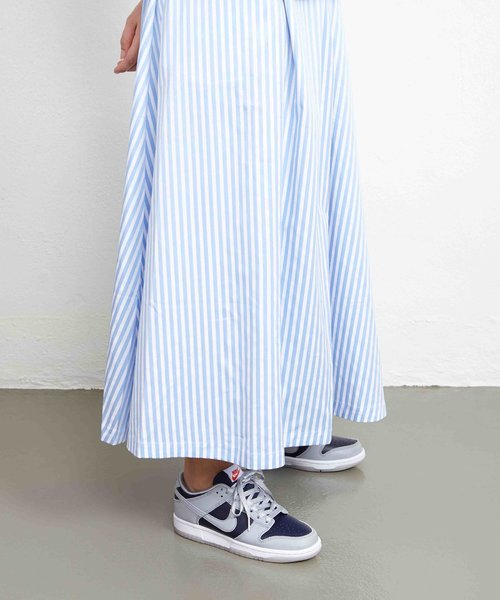 Libertine Box Skirt Light Blue Stripe