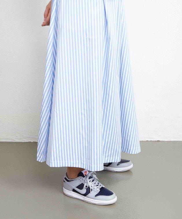 Libertine Libertine Libertine Box Skirt Light Blue Stripe
