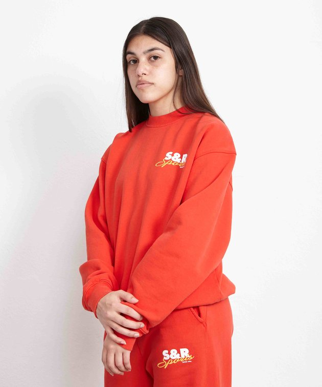 Sporty and Rich Sporty & Rich Sports Crewneck Cherry