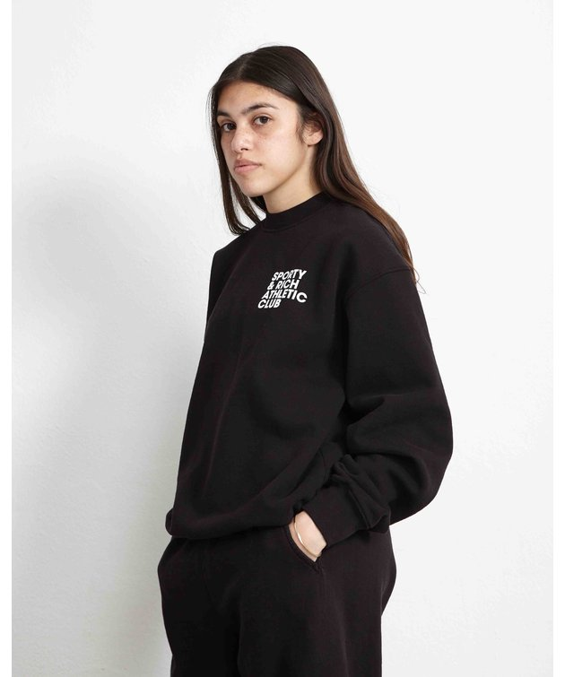 Sporty and Rich Sporty & Rich Exercise Often Crewneck Black