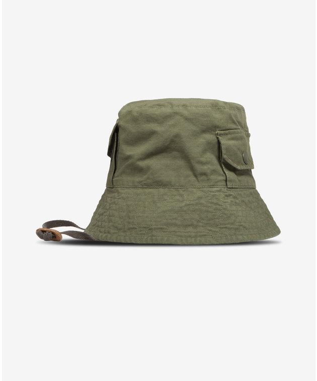 Engineered Garments EG Explorer Hat Olive Cotton Ripstop