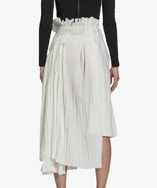 Y-3 W Brace Pleated Skirt Core White