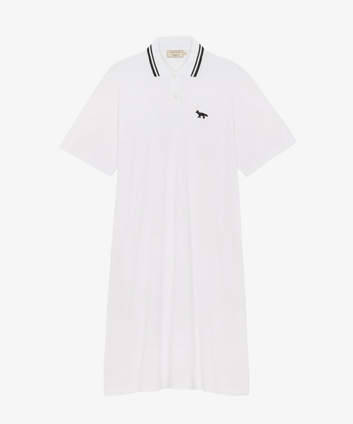 Kitsuné Pique Straight Polo Dress White