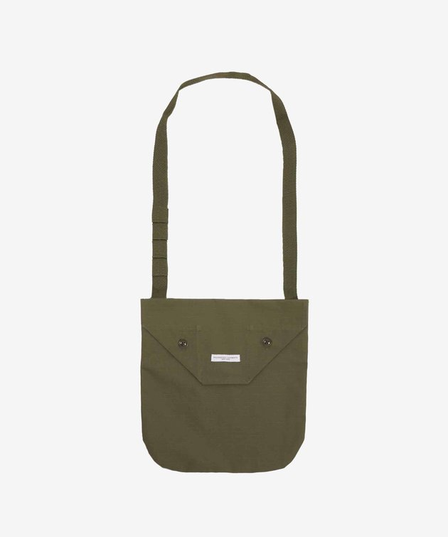 Engineered Garments EG Shoulder Pouch Olive Cotton Ripstop