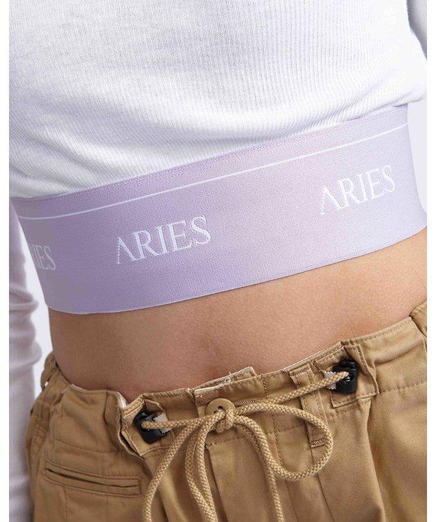 Aries Aries Rib Crop Top White
