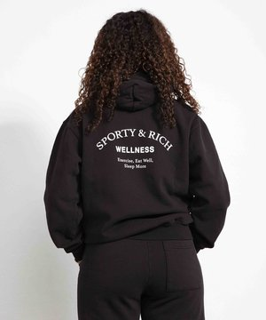 Sporty and Rich Sporty & Rich Wellness Studio Hoodie Noir