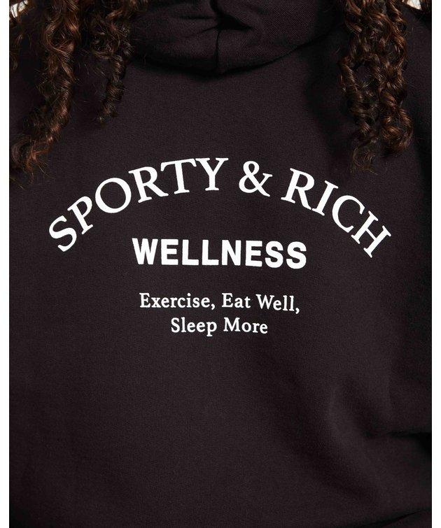 Sporty and Rich Sporty & Rich Wellness Studio Hoodie Noir