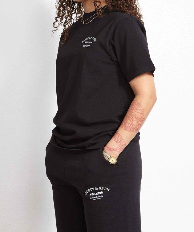 Sporty and Rich Sporty & Rich Wellness Studio T-Shirt Noir