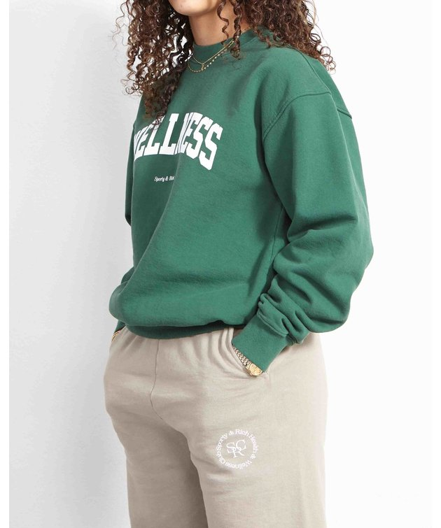 Sporty and Rich Sporty & Rich Wellness Ivy Crewneck British Racing Green