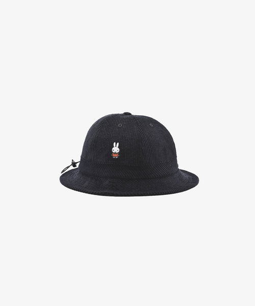 POP Miffy Cord Bell Hat Black
