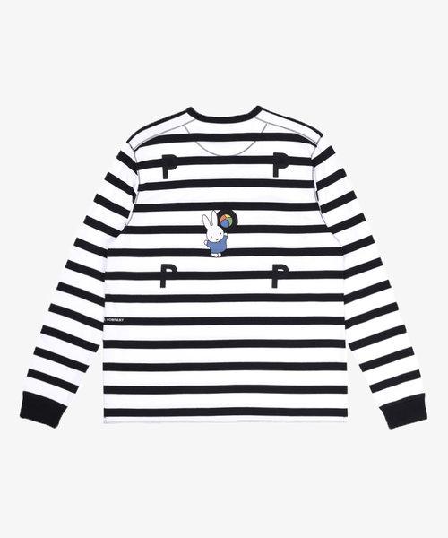 POP Miffy Striped Longsleeve Black/White