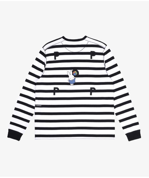 POP Trading Company POP Miffy Striped Longsleeve Black/White