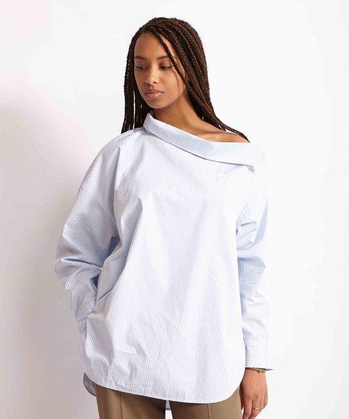 Kitsuné Shirt Blouse Blue Stripe