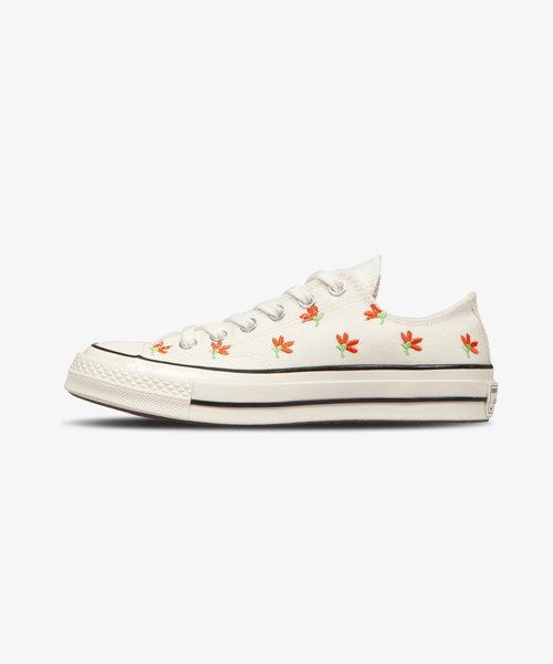 Converse Chuck 70 Ox Floral Print Egret/Bright Poppy