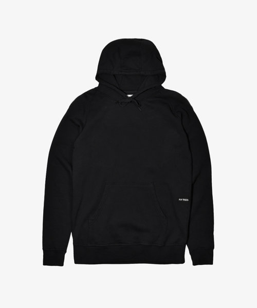 POP NOS Logo Hooded Sweat Black/White
