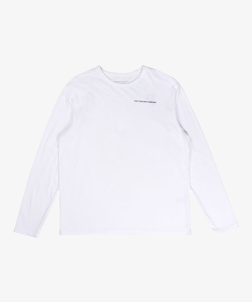 POP NOS Logo Longsleeve White/Black